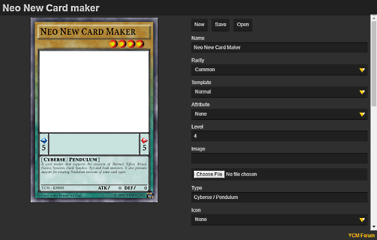 make yugioh card online