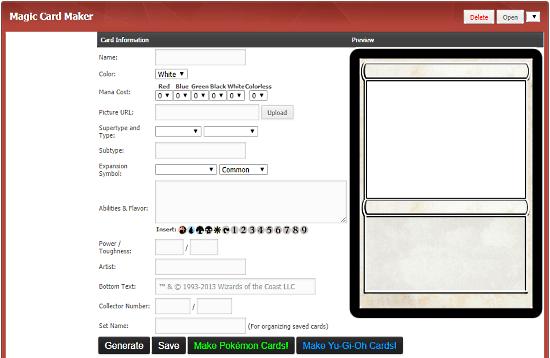 create yugioh card online