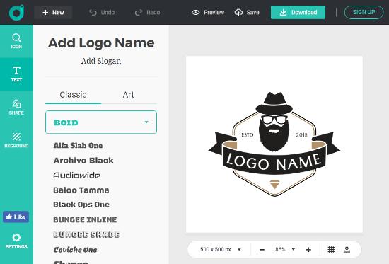 online hipster logo generator free