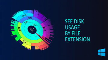 see disk space by file extension