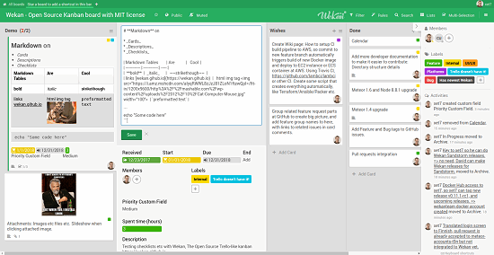 wekan free trello alternative