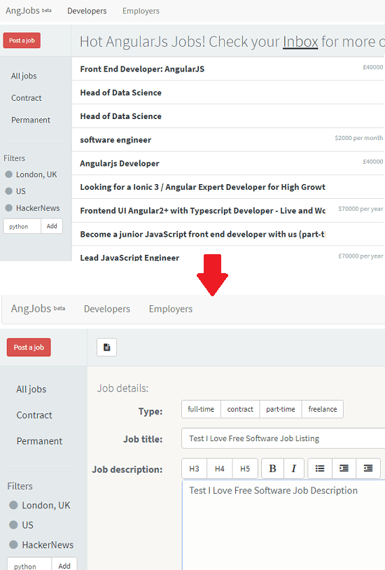 AngJobs free job board open source