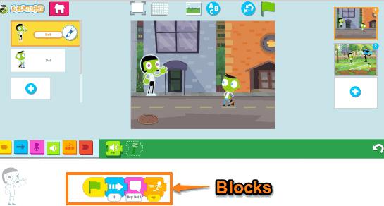 Blocks of character Dot