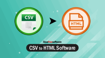 CSV to HTML software