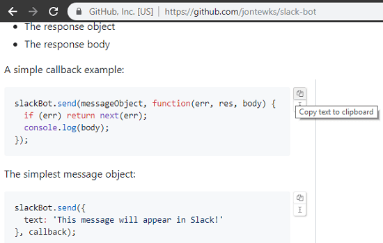 Clipboardy Copy code GitHub