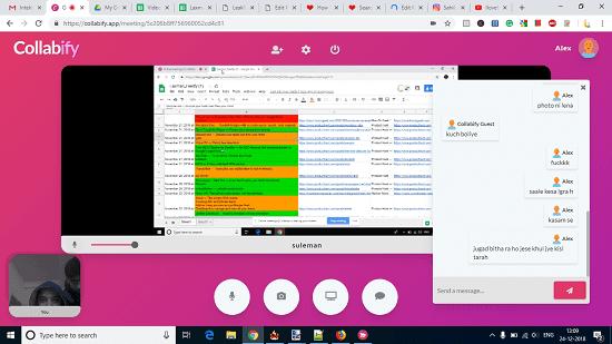 Collabify screen sharing