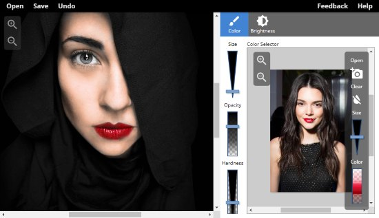 Colorize the black and white photo using colored image