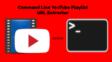 Command Line YouTube Playlist URL Extractor