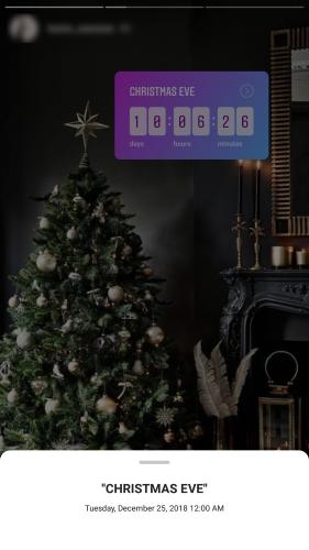 Countdown sticker and reminder