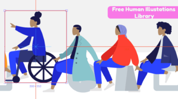 Download Human Illustrations Library Free for PhotoShop and Sketch