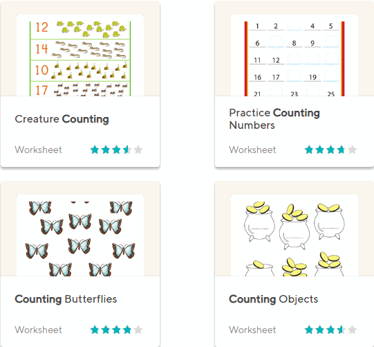 Education.com counting worksheets