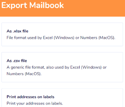 Export Mailbook address