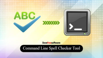 Free Command Line Spell Checker Tool for Text, HTML, Markdown Files