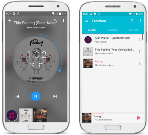 Freedom music player for Android ad free