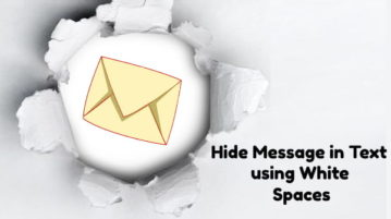 Hide Message in Text using White Spaces