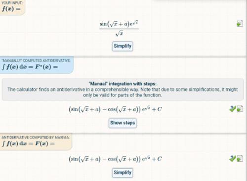 Integral calculator steps
