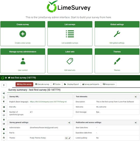 LimeSurvey in action
