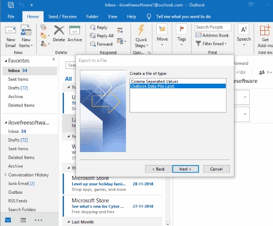 Microsoft Outlook desktop client