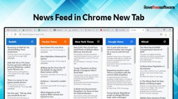 News feed in Chrome new tab