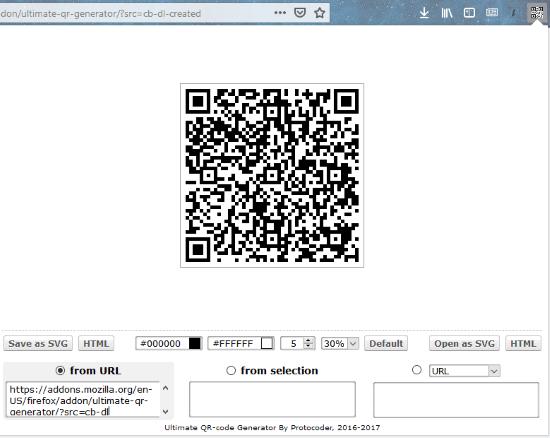 Ultimate QR-Code Generator interface