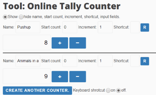 Text Mechanic online tally counter
