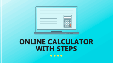 Online calculator with steps