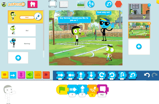 PBS KIDS ScratchJr story page