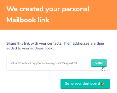 Personal Mailbook Link