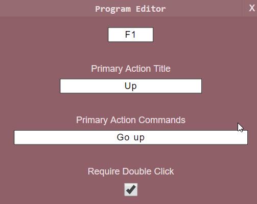 Program editor