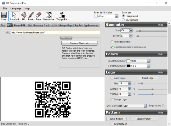 QR Customizer Pro Interface