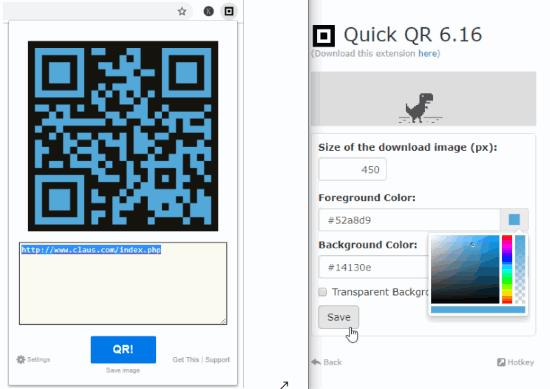 Quick QR Code generator (Chrome Extension)