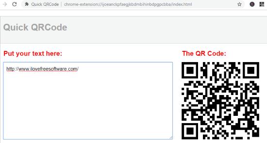 Quick QR Code (Chrome Extension)