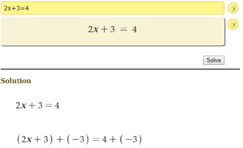 Quickmath calculator steps