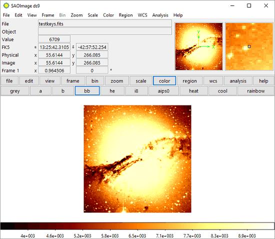 SAOImage free FITS viewer software