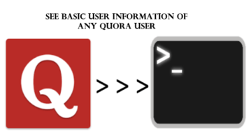 See basic information of any Quora user from command line