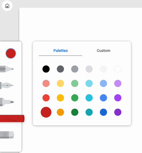 Use drawing tools and color palettes