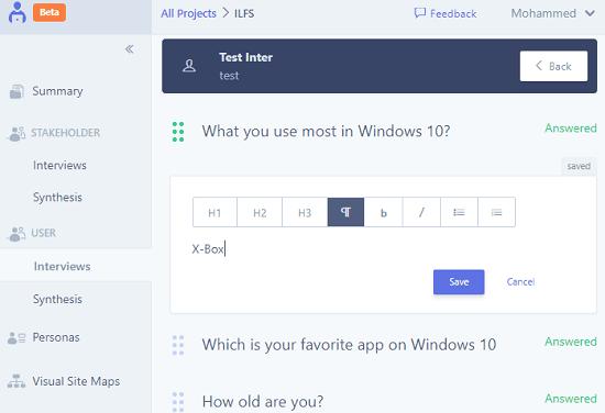 UserBit create responses