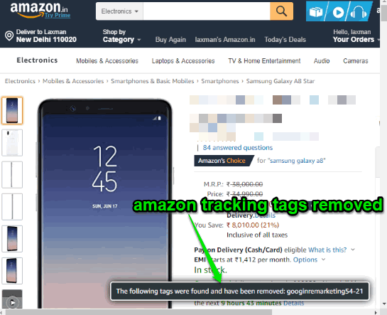 amazon tags removed