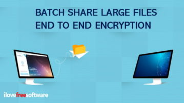 batch share files with end to end encryption