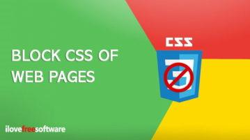block webpage css