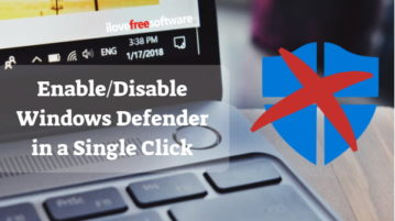 How to Enable, Disable Windows Defender in a Single Click