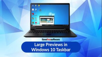 large preview taskbar items windows 10