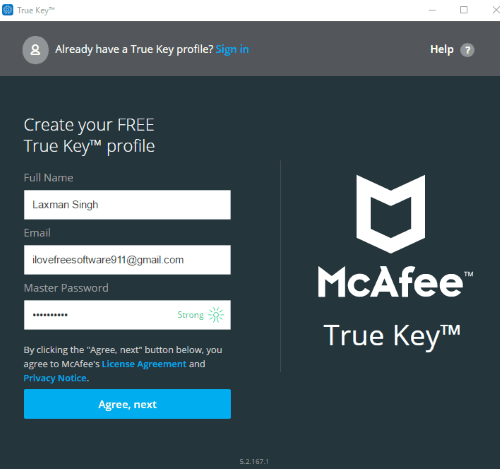 login or create a free account