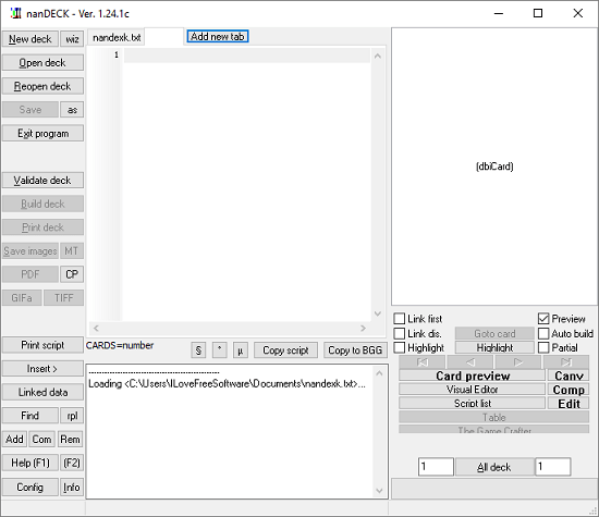 nanDECK interface