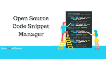 Free Open Source Code Snippet Manager