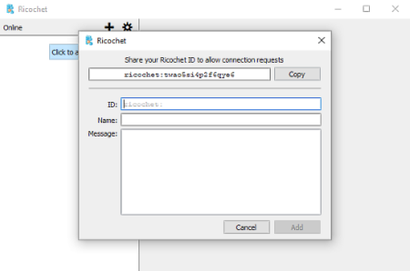 Ricochet: free p2p chat client for Windows