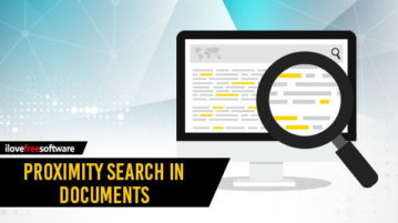 perform proximity search in documents