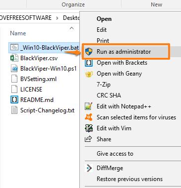 run batch script as administrator