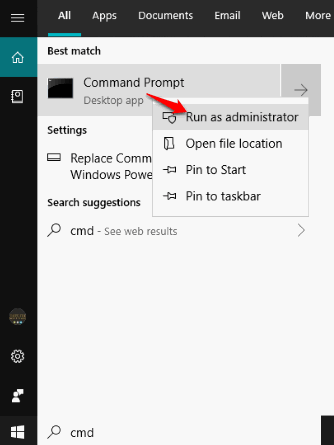 run command prompt as administrator