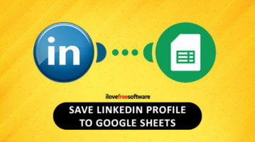 save linkedin profile to google sheets